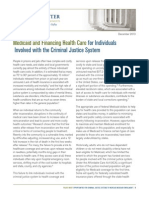 Medicaid and Financing Health Care for Individuals Involved with the Criminal Justice System