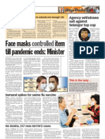 thesun 2009-08-20 page04 face masks controlled item till pandemic ends minister