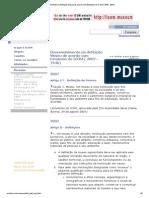 Desenvolvimento da definição Museu de acordo com Estatutos do ICOM (1946 - 2001)
