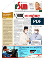 thesun 2009-08-18 page01 a(h1n1) emergency