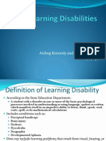 definition of learning difficulties
