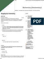Biophysical Chemistry _ Biochemistry - McGill University