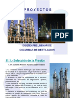 PROYECTO 11 1 Dise o Preliminar de Columnas de Destilaci n Nov 2013