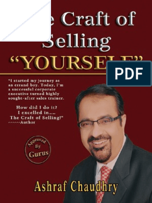 The Craft of Selling YOURSELF By Ashraf Choudhary | Swot