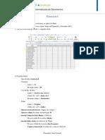 Exercício Excel 1