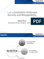 The virtualisation landscape - security and manageability