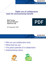 The quantifiable use of collaborative tools for business benefit