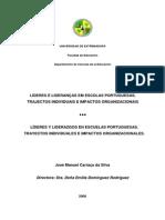ÍDERES E LIDERANÇAS EM ESCOLAS PORTUGUESAS