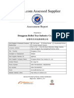 Supplier Assessment Report-Dongguan Beibei Toys Industry Co., Ltd.