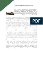 Inducción en Seguridad Industrial y Salud Ocupacional