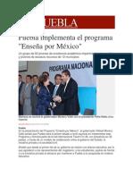 02-12-2013 Milenio.com - Puebla implementa el programa, Enseña por México