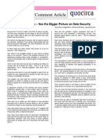 See the Bigger Picture on Data Security
