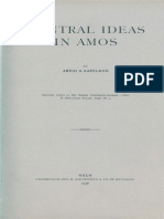 Central Ideas in Amos