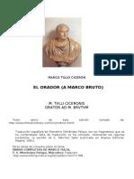 Ciceron Marco Tulio - El Orador (a Marco Bruto)-Bilingue-doc