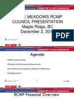 Ridge Meadows 2013 RCMP Update