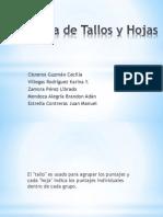 Diagrama de Tallos y Hojas