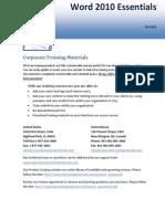 Essensials of Training Microsoft Word 2010