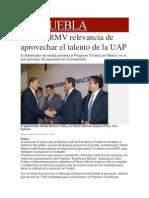 02-12-2013 Milenio.com - Destaca RMV Relevancia de Aprovechar El Talento de La UAP