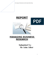 Managing Business Research