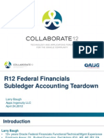 Collaborate12 Baugh r12 Federal Financials Subledger Accounting Teardown Ppt Final