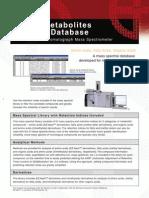 GCMS Metabolites Spectral Database