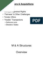 M&a Tender Offers & Hostile Transactions for Bus. Orgs (1)