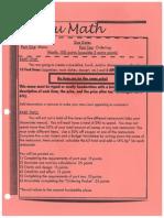 menu math assignment