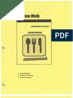 menu math ordering packet