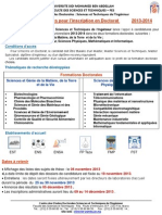 Appel Candidature Doctorat 2013 2014