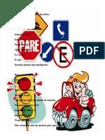 Las señales de tránsito acrostico