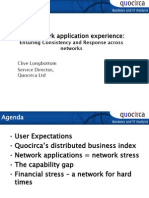 The network application experience