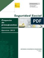 Informe Economico-Financiero - Presupuestos 2013 Seguridad Social