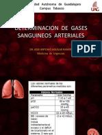 Determinacion de Gases Sanguineos Arteriales