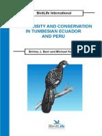Biodiversidad y conservación de la región tumbesina