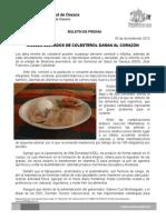 05/12/13 NIVELES ELEVADOS DE COLESTEROL DAÑAN AL CORAZÓN