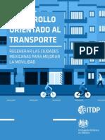 DOT Regenerar Las Ciudades Mexicanas Para Mejorar La Movilidad