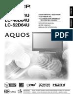 manualuserssharplc-46d64ulcdscreen
