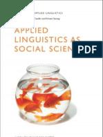 Applied Linguistics as Social Science (Advances in Applied Linguistics)