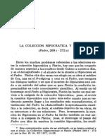 JOUANNA (La Coleccion Hipocratica y Platon -Fedro 269c-272a-)