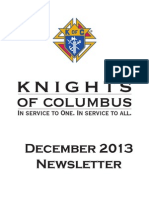Arkansas Knights of Columbus Newsletter December 2013