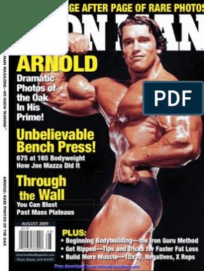 Iron Man Magazine Elbow Weight Training