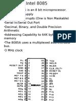 Intel 8085 Lecture pec