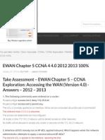 EWAN Chapter 5 CCNA 4 4.0 2012 2013 100% - HeiseR Dev Zone