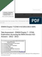 EWAN Chapter 7 CCNA 4 4.0 2012 2013 100% - HeiseR Dev Zone