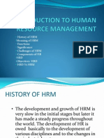 Intro. to HR