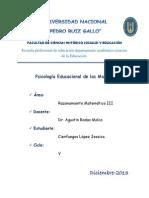 PSICOLOGÍA EDUCACIONAL DE LAS MATEMATICAS