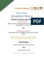 cutomer menu