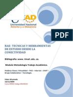 Rae Tecnicas y Herramientas de Estudio Desde La Conectividad