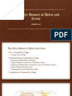The Early History of Delict and Crime