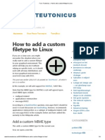 How to Add a Custom Filetype to Linux
